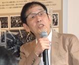 土屋敏男に質問する萩本欽一=「1964 SHIBUYA VR」プロジェクトの『タイムマシン体験会〜2018年・夏』 (C)ORICON NewS inc.