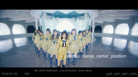 センター松井珠理奈をCGや絵コンテで表現したAKB48新曲「センチメンタルトレイン」MV(C)AKS/キングレコード