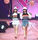 『Seventeen 夏の学園祭2018』「ST Collection 2018」STAGEに登場した(左から)マーシュ彩、久間田琳加 (C)ORICON NewS inc.