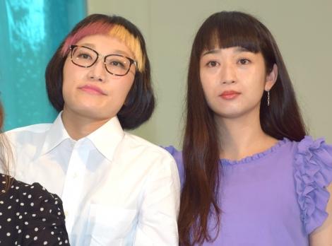 『YouGoEx2018』のキックオフイベントに参加したスパイク(左から)松浦志穂、小川暖奈 (C)ORICON NewS inc.