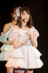 「私が起爆剤となって、メンバーと一緒に大爆発できるくらい頑張っていきます」と決意表明した吉田朱里(C)NMB48