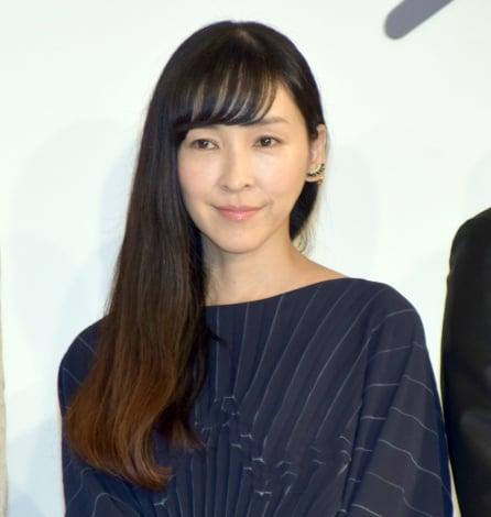 映画『散り椿』完成報告会見に出席した麻生久美子 (C)ORICON NewS inc.
