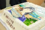 連ドラ化を祝って、特注ケーキの差し入れ(C)阿部潤・小学館/「忘却のサチコ」製作委員会