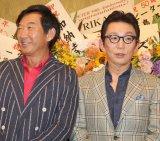 ディナーショーに来場した(左から)石田純一、古舘伊知郎 (C)ORICON NewS inc.