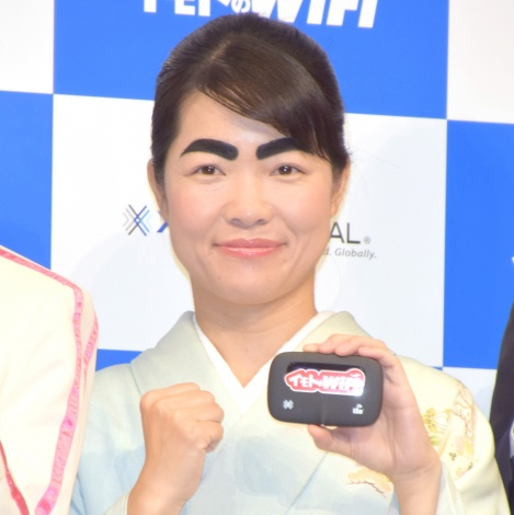 安室奈美恵の引退を全力で応援することを誓ったイモトアヤコ =『イモトのWi-Fi』新CM発表会 (C)ORICON NewS inc.