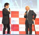 『京都国際映画祭2018』概要発表会見に出席した(左から)奥山和由総合プロデューサー、中島貞夫監督 (C)ORICON NewS inc.