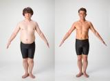 18.1キロの減量に成功した元DA PUMP・YUKINARI ビフォー(左)⇒アフター