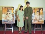 連続テレビ小説99作目『まんぷく』の第1週試写会に出席した(左から)安藤サクラ、長谷川博己 (C)ORICON NewS inc.
