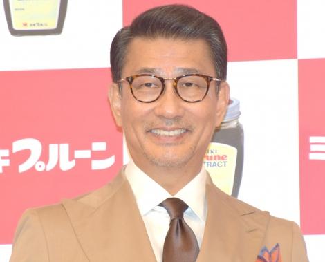 『ミキプルーン』の新CM発表会に参加した中井貴一 (C)ORICON NewS inc.
