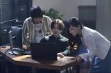 (左から)真柴祐太郎(菅田将暉)、坂上圭司(山田孝之)、坂上舞(麻生久美子)(C)テレビ朝日