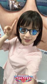 『Mステ ウルトラFES 2018』×「snow」コラボスタンプで遊ぶ弘中綾香アナ