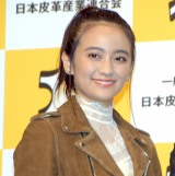 笑顔を見せる岡田結実=『ベストレザーニスト2018』授賞式 (C)ORICON NewS inc.
