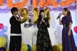 映画『3D彼女リアルガール』特別試写会に出席した(左から)佐野勇斗、中条あやみ、西野カナ