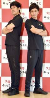 大阪チャンネルの新番組『笑イザップ』発表会に出席した(左から)小籔千豊、村田秀亮 (C)ORICON NewS inc.