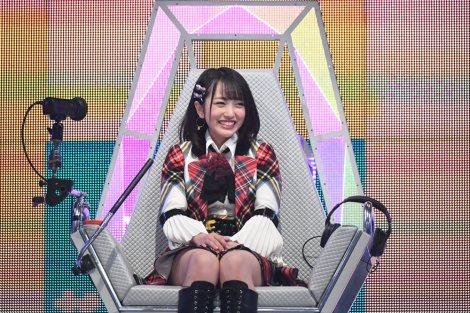 9月26日放送、テレビ朝日系『ザ・タイムショック』初出場の向井地美音(AKB48)(C)テレビ朝日