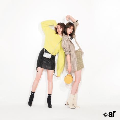 サムネイル 『ar』10月号に登場した佐藤栞里(左)&宮田聡子