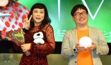 ソロデビューアルバム「IVKI」リリース記念イベントに出席した(左から)椿鬼奴、 天津の向清太朗(C)ORICON NewS inc.