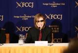 日本外国特派員協会での記者会見に臨んだYOSHIKI