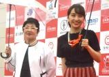 (左から)泉ピン子、百田夏菜子 (C)ORICON NewS inc.