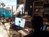 日本テレビ系ドラマ『サバイバル・ウエディング』第9話(9月15日放送)より。コマ撮りアニメーションパート の撮影風景(C)ORICON NewS inc.