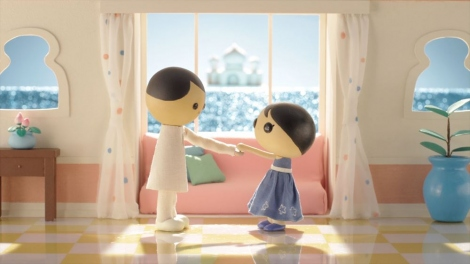日本テレビ系ドラマ『サバイバル・ウエディング』第9話(9月15日放送)より。コマ撮りアニメーションパート (C)日本テレビ