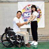 この日は初対面だったプロ車いすテニスプレイヤーの国枝慎吾選手と歌手の家入レオ (C)ORICON NewS inc.