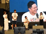 『Nスポ!2018 アニ×パラ ステージ』トークショーに出席したプロ車いすテニスプレイヤーの国枝慎吾選手と歌手の家入レオ (C)ORICON NewS inc.