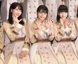 ライブ後取材に応じたNGT48(左から)柏木由紀、本間日陽、荻野由佳 (C)ORICON NewS inc.