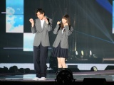 『Rakuten GirlsAward 2018 AUTUMN/WINTER』で映画『あの頃、君を追いかけた』スペシャルステージに登場したで山田裕貴と乃木坂46の齋藤飛鳥 (C)ORICON NewS inc.