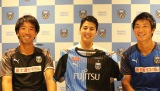 GA technologies取締役の樋口大氏(中)とU-18時代を共にした吉田勇樹トップチームコーチ(左)