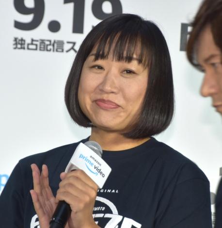 『HITOSHI MATSUMOTO Presents FREEZE(フリーズ)』配信記念記者発表会に出席した南海キャンディーズ・しずちゃん (C)ORICON NewS inc.