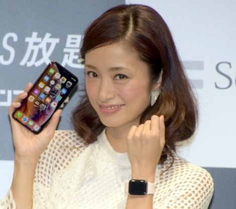 iPhone中毒になっていることを明かした上戸彩=ソフトバンク『iPhone XS』『iPhone XS Max』発売セレモニー (C)ORICON NewS inc.