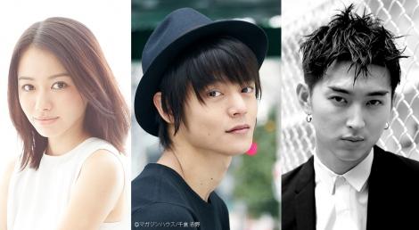 映画『東京喰種』の続編に出演することが発表された(左から)山本舞香、窪田正孝、松田翔太