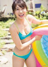 『週刊ヤングマガジン』第43号に登場したモーニング娘。'18の牧野真莉愛 (C)細居幸次郎/ヤングマガジン