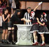 お互いの健闘を称え合った「Fortune-cherry」(右)と「2ki」=『AKB48グループ 第2回ユニットじゃんけん大会』 (C)ORICON NewS inc.