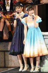 Aブロック代表となった「大空ついんず」(左から)AKB48大竹ひとみ、本田そら (C)ORICON NewS inc.