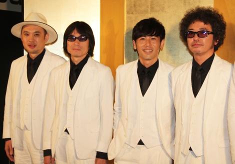 「カーリングシトーンズ」(左から)浜崎貴司、YO-KING、寺岡呼人、奥田民生 (C)ORICON NewS inc.