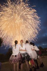 最後には、虎ガー(ベビレファン)からのファンディングによってプレゼントされた大輪の花火が夜空に打ち上げられた