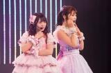 「ハートの独占権」を披露した(左から)植村梓、渋谷凪咲(C)NMB48