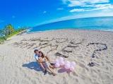 ビーチの砂浜に『Will you marry me?』と描きプロポーズ(C)フジテレビ/イースト・エンタテインメント