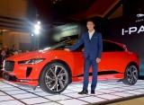 新型の電気自動車『I-PACE』の乗り心地を絶賛した錦織圭選手 (C)ORICON NewS inc.