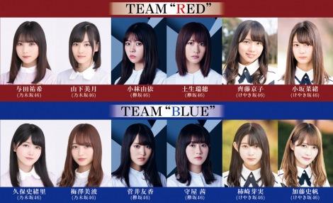 坂道シリーズ3グループ初共演舞台の追加キャスト\u0026チーム分け