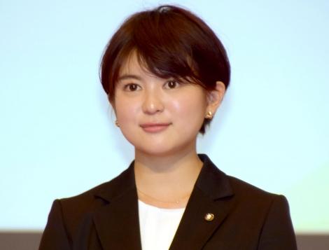 ミス成蹊2015グランプリの並木万里菜さん =テレビ朝日の入社式 (C)ORICON NewS inc.