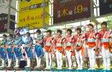 テレ朝夏祭りの応援サポーター就任した(左から)東京B少年、HiHi Jets (C)ORICON NewS inc.