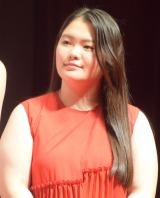 映画『SUNNY(サニー)強い気持ち・強い愛』(8月31日公開)の完成披露舞台あいさつに出席した富田望生