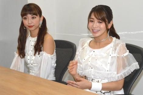 ベイビーレイズJAPAN(左から)大矢梨華子、傳谷英里香 (C)ORICON NewS inc.