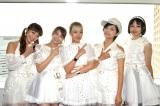 ベイビーレイズJAPAN(左から)大矢梨華子、傳谷英里香、林愛夏、高見奈央、渡邊璃生 (C)ORICON NewS inc.