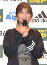 スポーツデポ20周年誕生祭『ADIDAS PLAY BLACK』ウェブCM発表イベントに出席した宇野実彩子 (C)ORICON NewS inc.