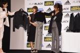 スポーツデポ20周年誕生祭『ADIDAS PLAY BLACK』ウェブCM発表イベントに出席した宇野実彩子