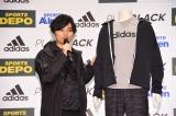 スポーツデポ20周年誕生祭『ADIDAS PLAY BLACK』ウェブCM発表イベントに出席したSKY-HI
